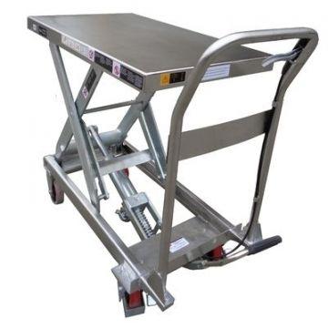 Тележка c подъемной платформой TISEL HTDZ35 INOX 350kg-1300mm-910х500mm, нерж. сталь