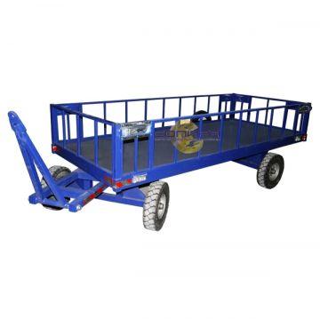 Большегрузная телега каркасная БТ 3 КБ 1250х3000 (с пневмо колесами d540мм), г/п 3000 кг