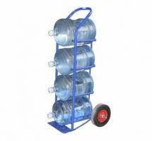 Тележка для перевозки 4-х баллонов воды ВД 4, колеса d260 пенополиуретановые, г/п 95 кг