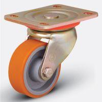 Колесо полиуретановое поворотное 125 мм (ED01 VBP 125), диск-чугун