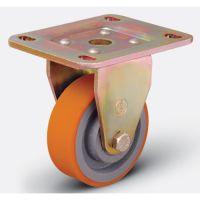 Колесо полиуретановое неповоротное 100 мм (ED02 VBP 100), диск-чугун