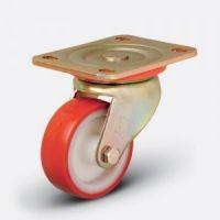 Колесо сверхмощное полиуретановое поворотное 200 мм (ED01 ZBP 200), диск-полиамид