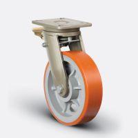 EV01 VBP 200x60F Большегрузная поворотная колесная опора, полиуретан, обод-чугун, с тормозом