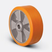 Колесо полиуретановое, диск алюминий, 200 мм (ABP-200)