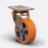 Колесо полиуретановое поворотное 100 мм (ED01 ABP 100), диск алюминий