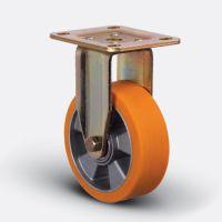 Колесо полиуретановое неповоротное 125 мм (ED02 ABP 125), диск алюминий