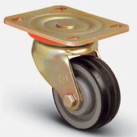 Колесо большегрузное обрезиненное поворотное 200 мм ( ED01 VBR 200 ), диск-чугун