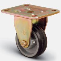 Колесо большегрузное обрезиненное неповоротное 100 мм ( ED02 VBR 100 ), диск-чугун