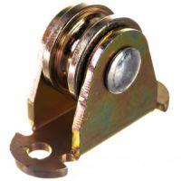 Роликовое колесо для гаражных ворот, 25 мм, цинк