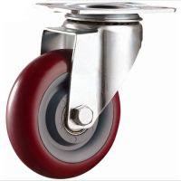 Колесо полиуретановое поворотное 75 мм, диск - полипропилен (Medium)