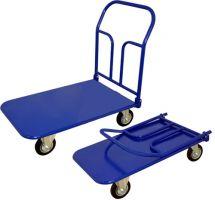 Тележка платформенная складная ручка, педаль. ТПСР 5 М (700х1200), колеса d200 лчр, г/п 550 кг