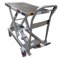 Тележка c подъемной платформой TISEL HTZ45 INOX 450kg-880mm-850х500mm, нерж. сталь
