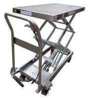 Тележка c подъемной платформой TISEL HTDZ10 INOX 100kg-1300mm-910х500mm, нерж. сталь
