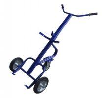 Тележка для перевозки металлических бочек КБ 1, колеса d260 пенополиуретановые, г/п 220 кг