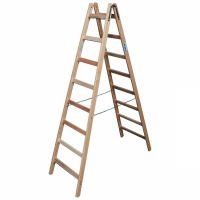 Деревянная двухсторонняя лестница, 2 х 7 пер.