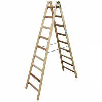 Деревянная двухсторонняя лестница, 2 х 9 пер.