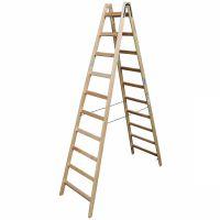 Деревянная двухсторонняя лестница, 2 х 10 пер.
