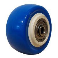 Колесо б\к синее 40 мм шарик. подшипник