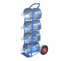 Тележка для перевозки 4-х баллонов воды ВД 4, колеса d260 пневматические, г/п 95 кг