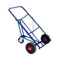Тележка для перевозки металлических бочек КБ 2, колеса d260 пневматические, г/п 220 кг