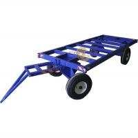 Большегрузная телега каркасная БТ 2 К 1250х2500 (с пневмо колесами d450мм), г/п 2000 кг