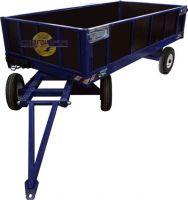 Большегрузная телега настил фанера БТ 1 ЦБ 1250х2000 (с пневмо колесами d450мм), г/п 2000 кг