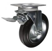 Усиленные, обод из стали, поворотные с тормозом
